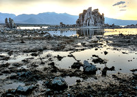 Distant Fortress of Solitude, a tufa structure at Mono Lake, by Dean Chiang, Xyclopx