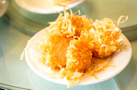 Fried noodle-covered shrimp ballz by Dean Chiang, Xyclopx