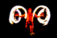 Luau Fire Man Whirling Flames on The Big Island, Hawaii, by Dean Chiang, Xyclopx