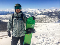 Quincy on top of Mammoth Mountain, by Dean Chiang, Xyclopx