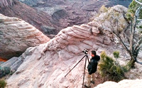 Dean Chiang Taking Pictures of the Mesa Arch, by Dean Chiang, Xyclopx
