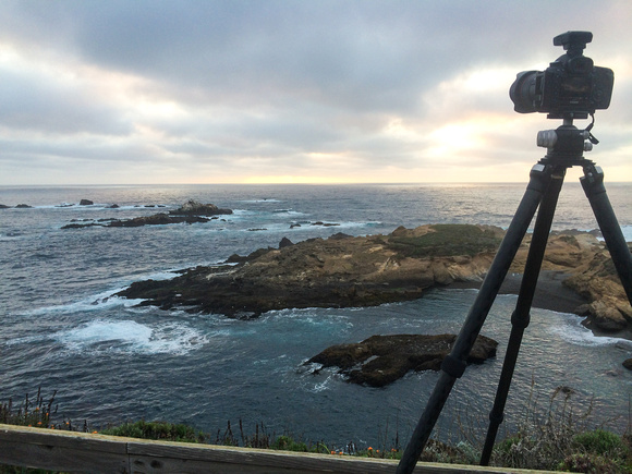 Taking Pictures of Sunset at Sea Lion Cove, by Dean Chiang, Xyclopx