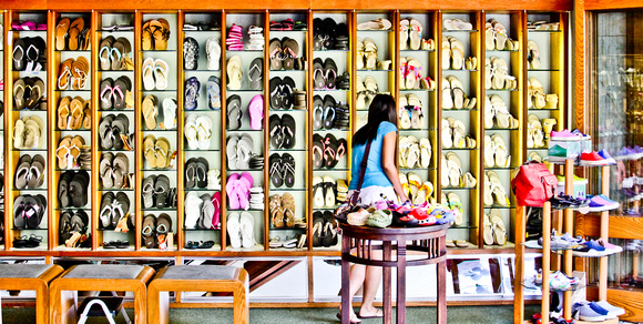 Shoe Shopping on The Big Island, Hawaii, by Dean Chiang, Xyclopx
