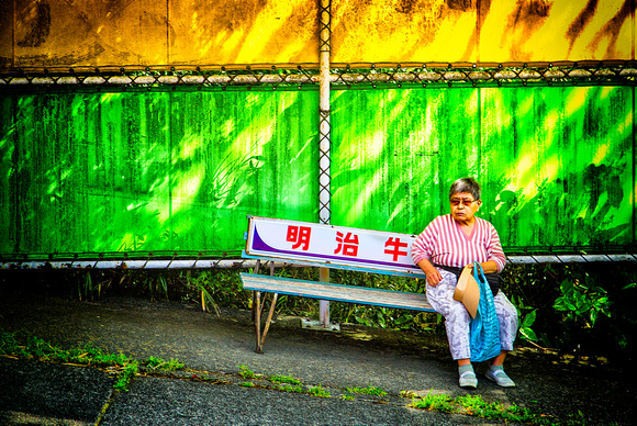 Colors of a Japanese Bus Stop, by Dean Chiang, Xyclopx