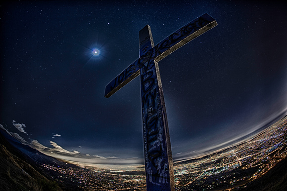 Cross at Azusa Peak, by Dean Chiang, Xyclopx