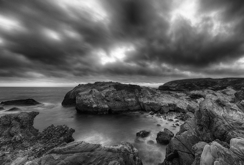 Cove under Dark Skies, by Dean Chiang, Xyclopx