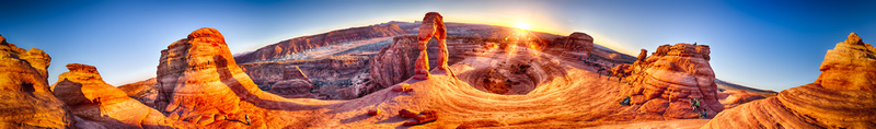 Enclave of the Arch, a picture of the Delicate Arch at Arches National Park.