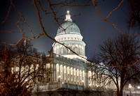 Utah State Capitol Building Lit at Night, by Dean Chiang, Xyclopx